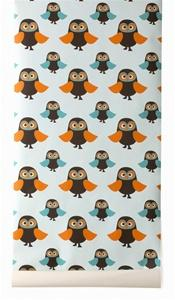 Owls Wallpaper by Ferm Living, Burke Decor