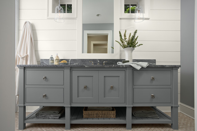 Tiny Home Designs: Grey Bathroom Vanity