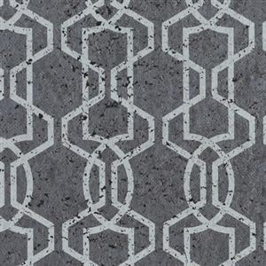 Silhouette Cork Effect Wallpaper in Grey by York