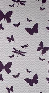 Wallpaper - Butterflies Wallpaper by Ferm Living | Burke Decor - ferm living, purple, butterflies, wallpaper