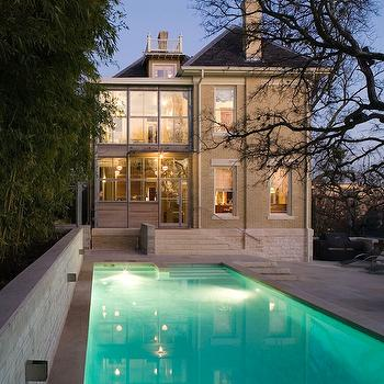 Mell Lawrence Architects - pools - brick exterior, in ground pool,  Gorgeous pool