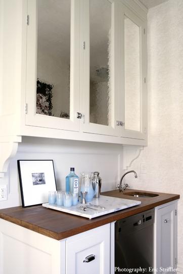 Mirrored kitchen cabinets transitional kitchen drake for Drake designs kitchen