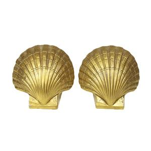 Decor/Accessories - Gold Shell Bookends - gold shell, bookends
