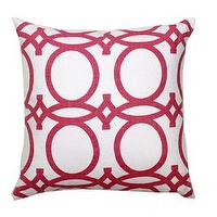 Pillows - Fuchsia Trellis Pillow - fuchsia, trellis, pillow