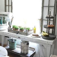 kitchens - kitchens, farmhouse, vintage, white, table,  Kitchen breakfast nook
