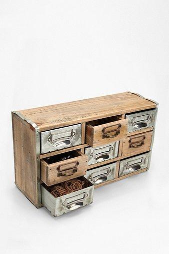Storage Furniture - UrbanOutfitters.com > Reclaimed Card Catalog Organizer Cabinet - reclaimed, card catalog, cabinet
