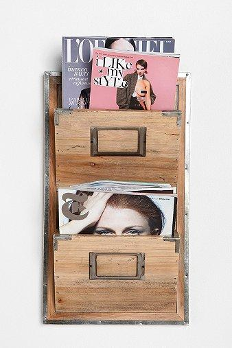 Art/Wall Decor - UrbanOutfitters.com > Waiting Room Magazine Rack - waiting room, magazine, rack