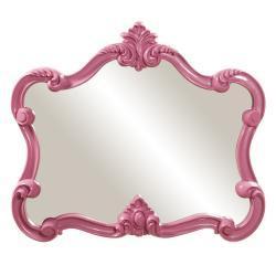 Mirrors - Glossy Pink Veruca Mirror | Overstock.com - glossy, pink, veruca, mirror