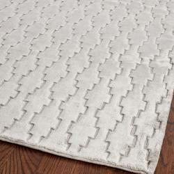 Rugs - Hand-knotted Mirage Grey Wool and Viscose Rug (7' 6 x 9' 6) | Overstock.com - mirage, gray, rug