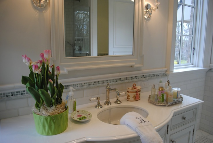 Bathroom Floor Bowing : Bow front cabinet traditional bathroom the enchanted
