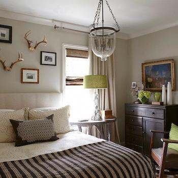 Striped Curtains, Cottage, boy's room, Tracery Interiors