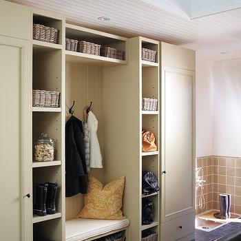 Mudroom Design, Transitional, laundry room, House & Home