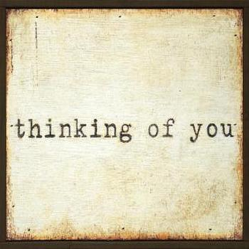 Art/Wall Decor - Thinking of You Little Wall Art - Framed Art - Wall Decor - Home Decor | HomeDecorators.com - thinking of you, art, print