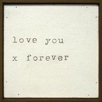 Art/Wall Decor - Love You x Forever Little Wall Art Print - Framed Art - Wall Decor - Home Decor | HomeDecorators.com - love you, x, art, print