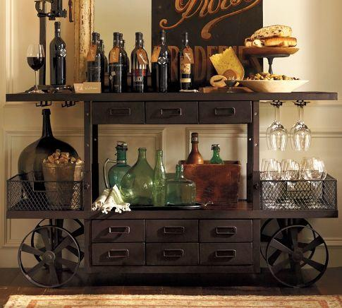 Storage Furniture - Sheffield Entertaining Bar Cart | Pottery Barn - sheffield, entertaining, cart