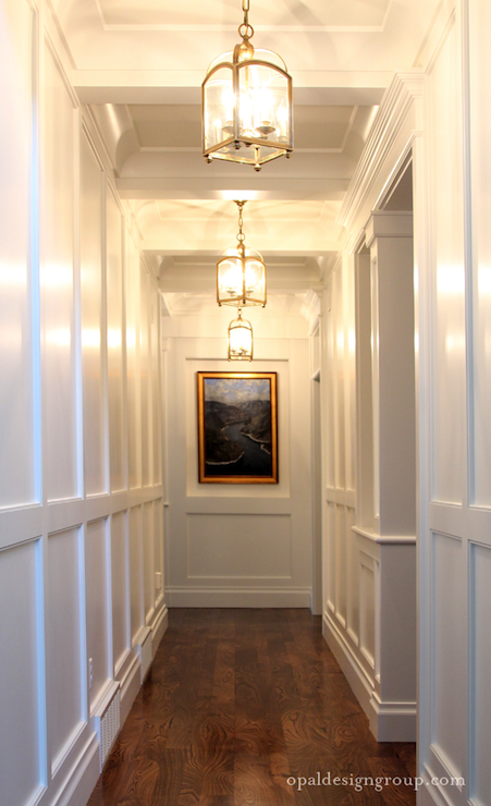 Full Wall Wainscoting Transitional Entrance Foyer