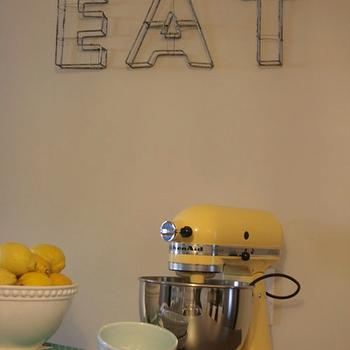 Jillian Harris - kitchens - yellow, KitchenAid, mixer, yellow, accents, yellow accents, yellow kitchen accents, kitchen with yellow accents, yellow room accents, yellow room accessories,