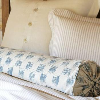 Pillows - Ikat Bolster Pillow Cover | Pottery Barn - ikat, bolster, pillow