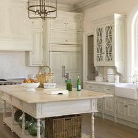 Phoebe Howard - kitchens - kitchen cabinets, marble, countertops, kitchen island, wood, top, hand painted cabinets, hand painted kitchen cabinets,