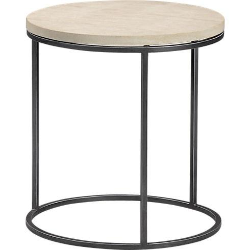 Tables - grind sandstone side table in new furniture | CB2 - grind, sandstone, table