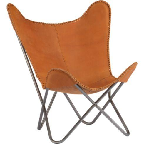 1938 Leather Butterfly Chair In Chairs Cb2