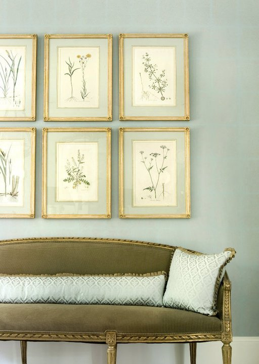 Foyer Framed Art : Green french settee entrance foyer liz