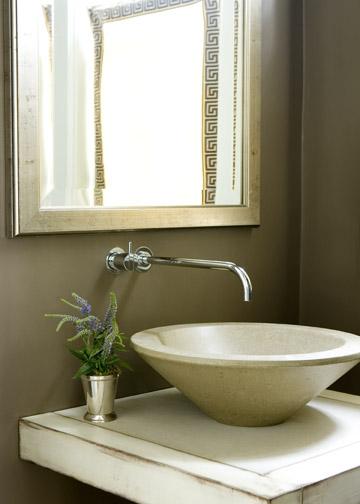 Floating Vessel Sink : Floating Sink Vanity, Transitional, bathroom, Liz Williams Interiors