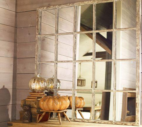 White Paned Mirror, Pottery Barn