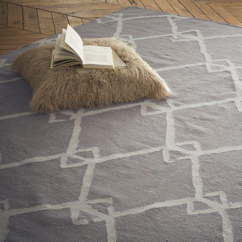 Rugs - Venda Dhurrie - Plaster | west elm - venda, dhurrie, rug, plaster