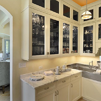 de Giulio Kitchen Design - kitchens - butler's pantry, ivory, glass-front, kitchen cabinets, marble, countertops, corner, sink, espresso, machine, butler's pantry cabinets, butler pantry cabinets, cream butler's pantry cabinets, cream butler pantry cabinets, cream cabinets, cream kitchen cabinets, cream shaker cabinets, cream shaker kitchen cabinets, glass front cabinets, glass front butler pantry cabinets, glass front butlers pantry cabinets,