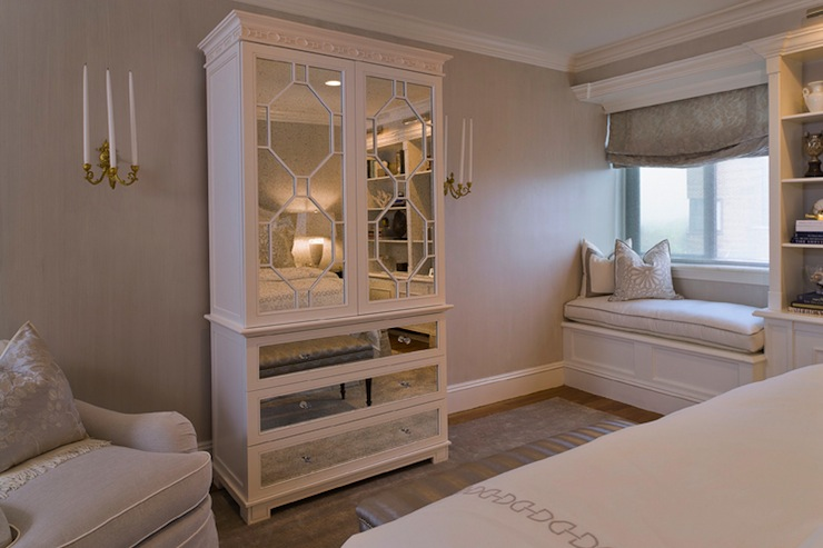mirrored armoire contemporary bedroom tiffany eastman interiors