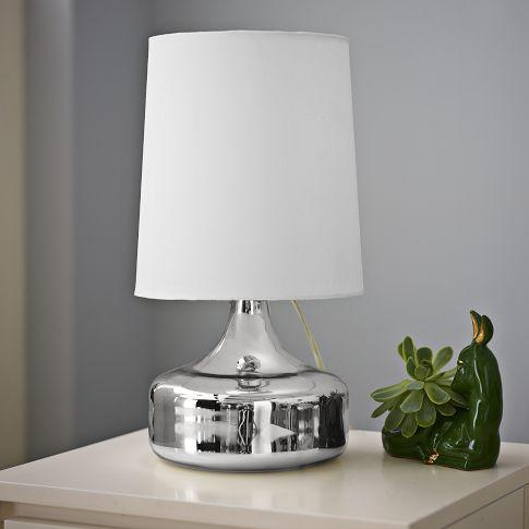 Lighting - Perch Table Lamp - Mercury | west elm - perch, table, lamp