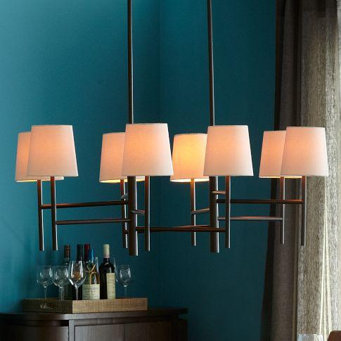 Lighting - Staggered Chandelier - Large | west elm - staggered, chandelier