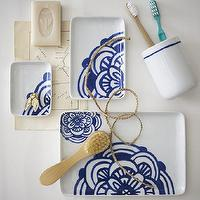 Decor/Accessories - Blue + White Bath Accessories | west elm - blue, white, bath, accessories