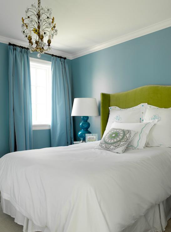 blue and green bedroom walls walls blue drapes green