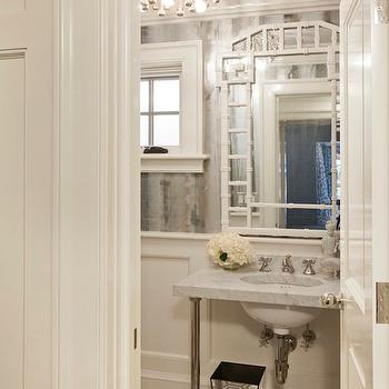 Pagoda Mirror, Contemporary, bathroom, Tiffany Eastman Interiors