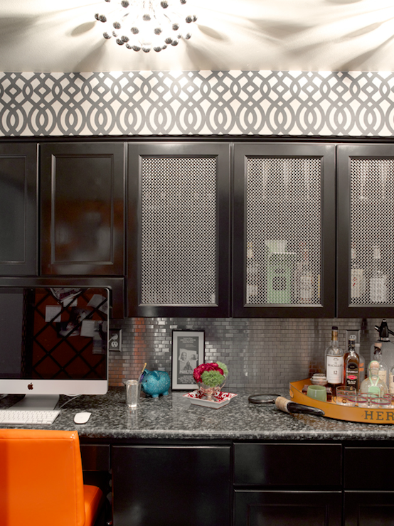 Chicken Wire Cabinets Contemporary Kitchen Graciela