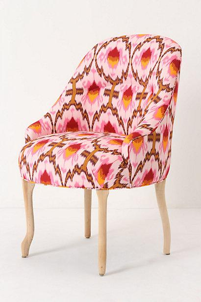 Seating - Raspberry Ikat Pull-Up Chair - Anthropologie.com - raspberry, ikat, pull up, chair