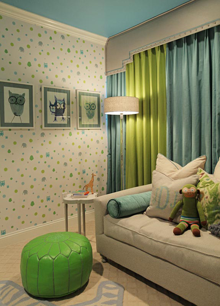 Cot In A Box Morocco Turquoise: Turquoise Drapes