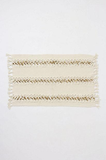 Bath - Woven Gold Bathmat - Anthropologie.com - woven, gold, bath mat