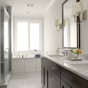 Espresso Double Vanity, Contemporary, bathroom, Graciela Rutkowski Interiors