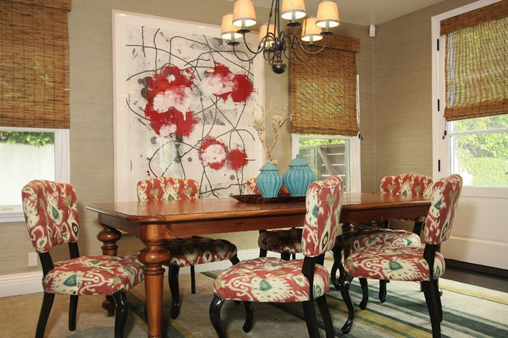 Ikat Dining Chairs Contemporary Dining Room Jenn