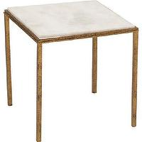 Tables - Hammered Gold Square Table - Global Views - hammered, gold, square, table