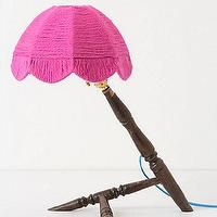 Lighting - Timber Legs Lamp, Pink - Anthropologie.com - timber, legs, lamp