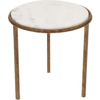 Tables - Hammered Gold Round Table - Global Views - hammered, gold, round, table