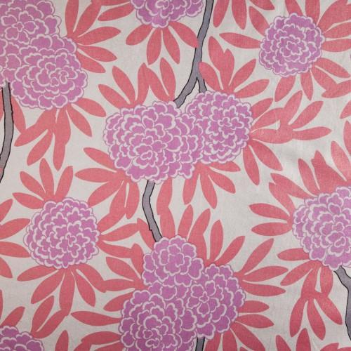 Fabrics - Caitlin Wilson Textiles: Berry Fleur Chinoise Fabric - berry, fleur, chinoise, fabric