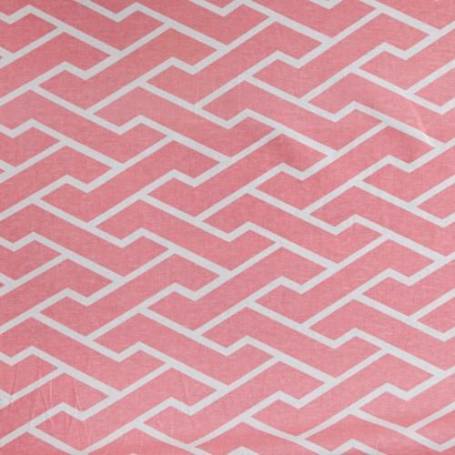 Fabrics - Caitlin Wilson Textiles: Pink City Maze Fabric - pink, city, maze, fabric