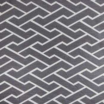 Fabrics - Caitlin Wilson Textiles: Charcoal City Maze Fabric - charcoal, city maize, fabric