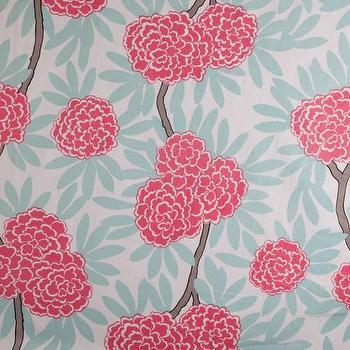 Fabrics - Caitlin Wilson Textiles: Mint Fleur Chinoise Fabric - min, fleur, chinoise, fabric