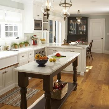 Chocolate Brown Kitchen Island, Traditional, kitchen, Mahoney Architects & Interiors